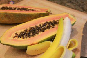 papaya & banana
