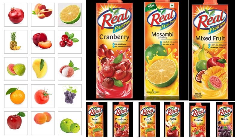 Real Fruit Juices by Dabur